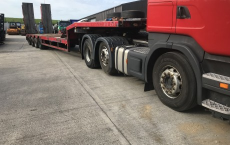 2001 Fatmonville 9TZ-4U 4 Axle Step frame Trailer | uk plant traders