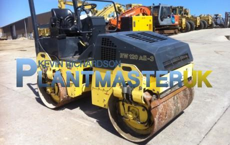2003 Bomag BW 120 AD 3 Double Drum Roller   uk plant traders