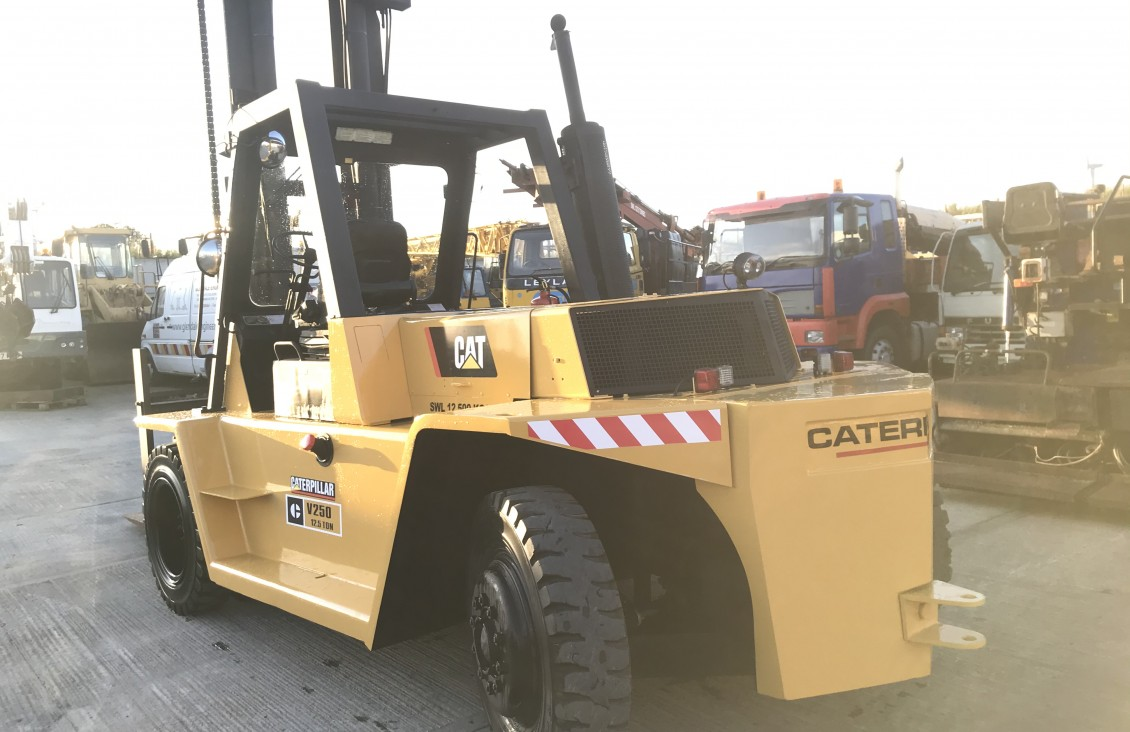 CAT V250 B 12 .5 ton diesel forklift for sale| Plantmaster UK