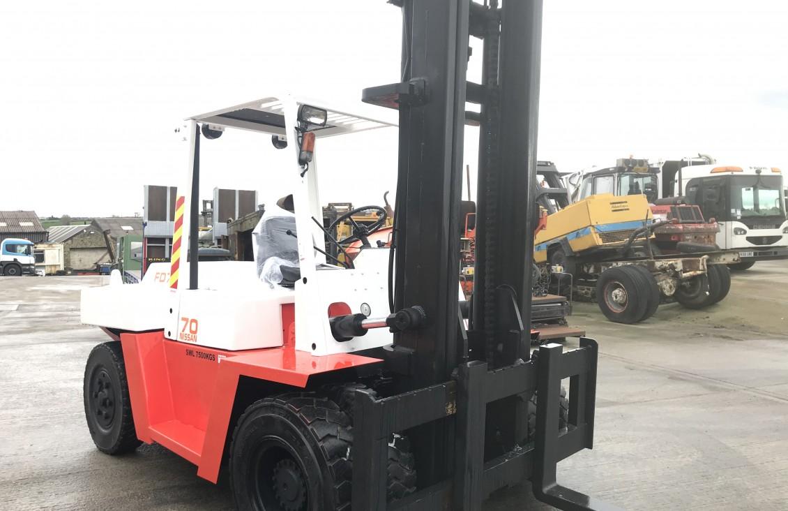 Nissan FD 70  7.5 ton diesel forklift | Plantmaster UK