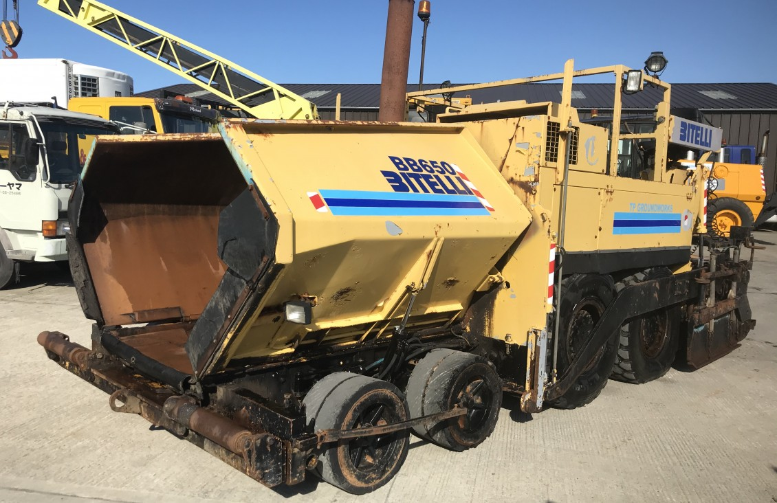 Bitelli BB670 asphalt Tarmac Paver for sale| Plantmaster UK