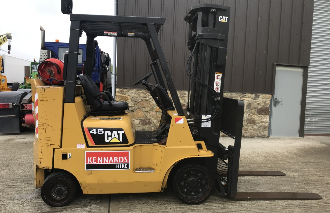 CAT GC45 K compact space saver forklift | Plantmaster UK
