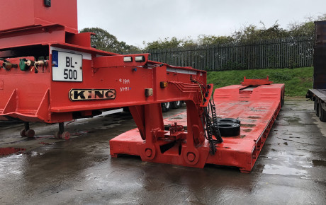 King GTL 70 low bed 3 axle Trailer for sale on Plantmaster UK