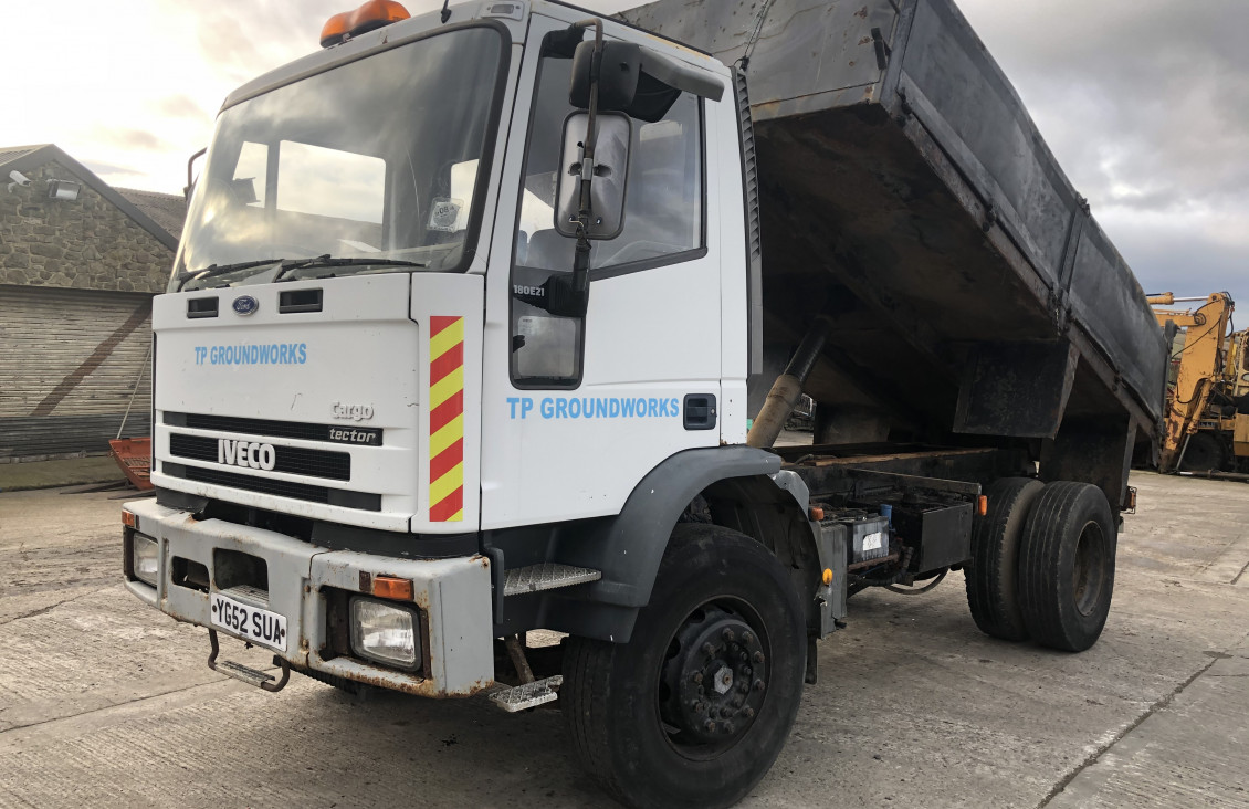 Used Iveco Tractor 180E18 steel body tipper truck for sale on Plantmaster UK