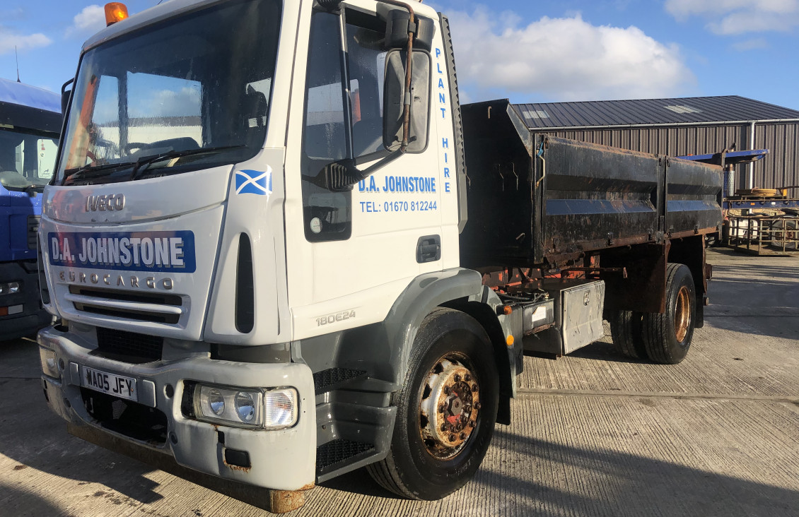 Used Iveco Cursor 18E210 Euro Cargo steel body tipper for sale on Plantmaster UK