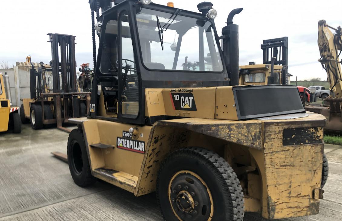 Used CAT V200C 10 ton diesel forklift for sale on Plantmaster UK