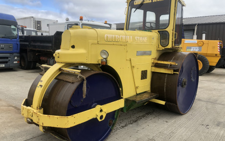 Aveling Barford DC12 3 pin dead weight tarmac roll for sale on Plantmaster UK