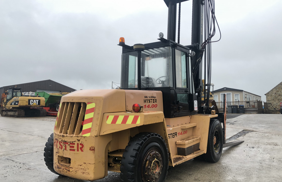 Used Hyster H14.00XL diesel forklift for sale on Plantmaster UK