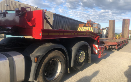 Faymonville Multi Max 4 axle Step frame trailer for sale on Plantmaster UK