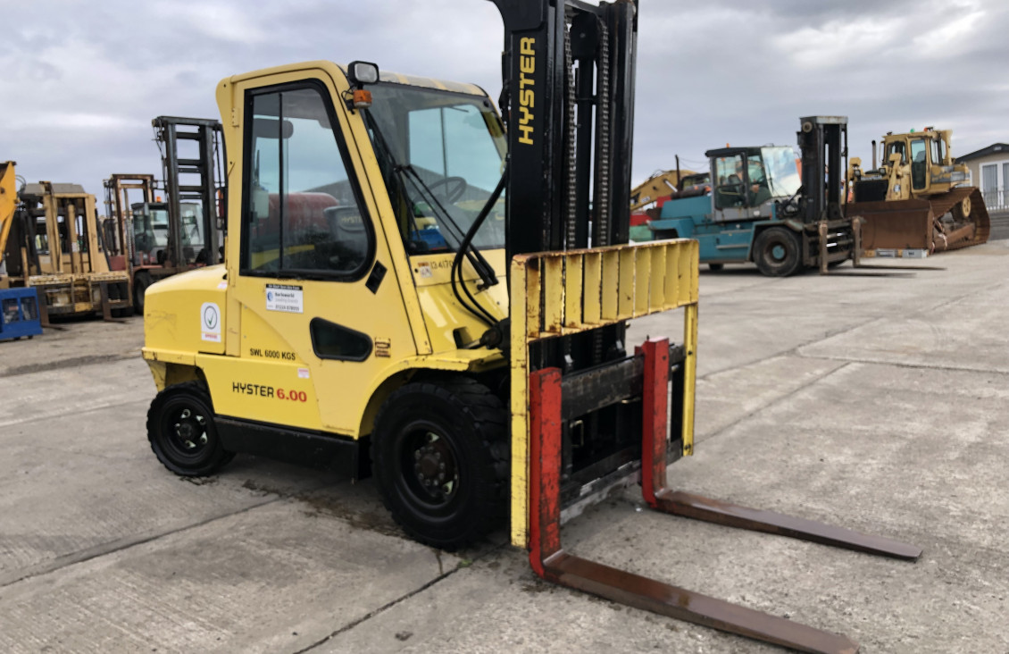Used Hyster H6.00XM 6 ton lpg forklift for sale on Plantmaster UK